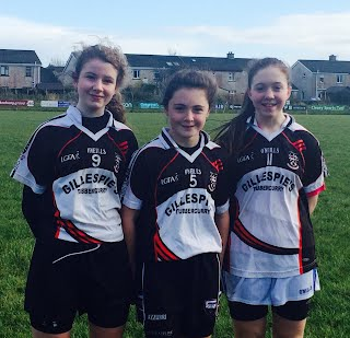 Three St Pats girls selected for U14 County Team.